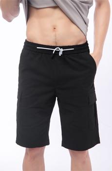 黑色男士短裤