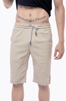 米白色男士短裤